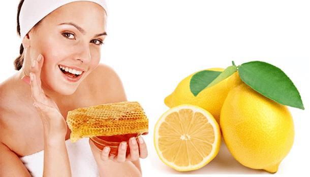 Lemon and honey face pack